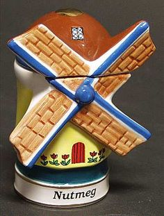 Windmill shaped spice container by the Danbury Mint