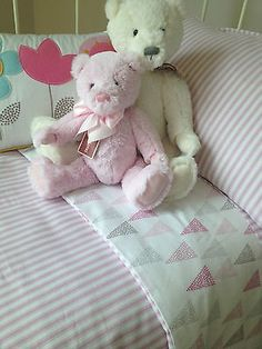 4 pc Baby Girls Lily Cot Cover Wool Quilt Pillow Case Cushion Designers Choice