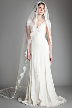 Love the repeated motif on the veil/dress
