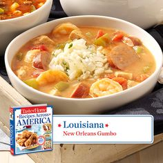 50 States in 50 Days: Today we visit Louisiana. Dolores M. Bridges is originally from New Orleans and has been making this New Orleans Gumbo Recipe for at least 30 years. Find regional Southern recipes like this one and more in our new cookbook, Recipes Across America----> http://www.tasteofhome.com/rd.asp?id=22997