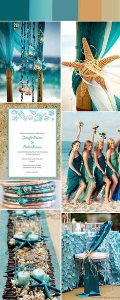 Fabulous Summer Beach Wedding Colors With Matched Bridesmaid ...