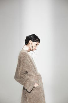 Eden Mohair Knit Coat with Ava Silk Dress