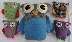 To learn how to make these.... Felt/wool owls @Fiveandtwo