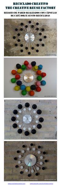 Relojes realizados reciclando cápsulas de café Dolce Gusto