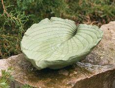 make a hosta leaf birdbath