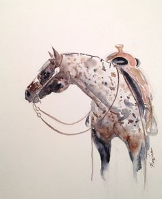 Appaloosa: Equine Art, Custom Watercolor Animal Paintings. #equine #art #horse
