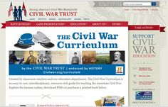 Free Civil War Curriculum for Elementary through High School . Add ons include powerpoints and lesson plans plus more!