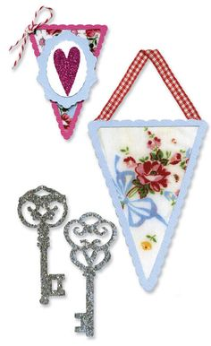 Brand New SIZZIX SIZZLETS - SEWING & WRITING SET-- SET OF 3 DIES - VALENTINE  #Cuttlebug