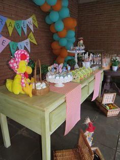 Decoração de aniversário cocoricó www.facebook.com/raizescrapbook #encontrandoideias