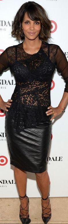 Halle Berry': skirt – Rebecca Vallance Bra – Target Shoes – Christian Louboutin Shirt – Nina Ricci