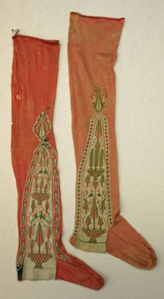 Stockings ca. 1795-1799 via The Costume Institute of the Metropolitan Museum of Art