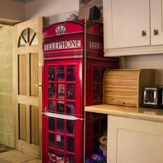 telephone box fridge