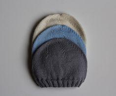 Hand knit baby hat Merino wool newborn handmade