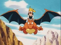 Charizard and Ash (Satoshi) Pokemon Pokemon Go, Pokemon Photo, Pokemon People, Pokemon Comics, Pokemon Funny, Pokemon Memes, Pikachu, Pokemon Emolga, Charmander Charmeleon Charizard