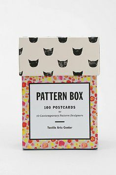 gift idea 2013: Pattern Box Postcard Set
