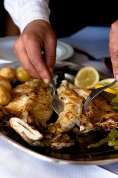 Portuguese Grilled Fish a healthy dish, perhaps you can serv it with some crisp Vinho verde wine