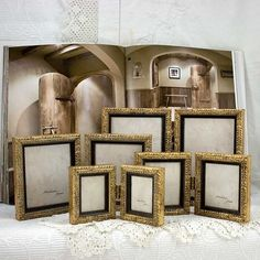Small Gold Hinged Double Frame Anniversary par mackenzieframes, $32,00