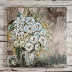 Check out Bella Vita's newest artist, Vicki Denaburg. Vicki is a mostly self-taught artist from Birmingham, AL. Her work comes from layering different mediums with a palette knife in a way that will speak to her viewers with excitement and interest.