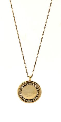 Charm & Chain | Gold Sunburst Necklace - Pendant - Necklaces - Jewelry