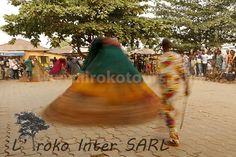 Zangbeto Voodoo during Voodoo festival in Ouidah, Benin