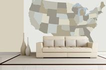 How cool would it be to put a little tag on the wall for every place you've visited in the US?
