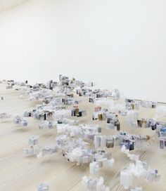 Artist: Han Feng, Floating City, tracing paper construction and digital prints