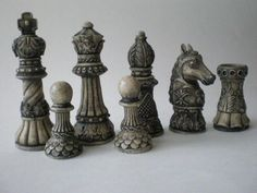 Ornate Staunton Resin Chess Set