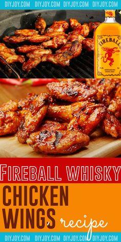 Chicken Wing Sauces, Sauce For Chicken, Chicken Wing Recipes, Chicken Wings, Easy Appetizer Recipes, Best Dinner Recipes, Appetizers, Whiskey Chicken, Grilling Recipes