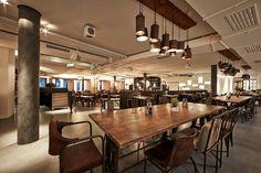 Das Campus - Restaurant & Bar auf dem Gelände der neuen WU. Da muss ich jetzt endlich mal hin! Restaurant Bar, Restaurant Interiors, Lokal, Interior Design, Places, Furniture, Home Decor, Behance, Retail