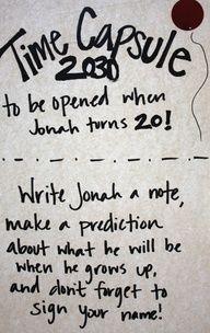 Cute idea for a guest book