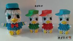 Donald and nephews Origami 3d by Sfa87 on DeviantArt