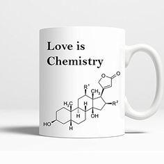 Novelty Coffee Mug - Love is Chemistry - 11 Oz Coffee Mug Printed on BOTH SIDES