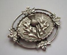 Vintage Inspired Thistle Scottish Pipers Plaid Kilt Hat Pin Brooch Celtic | eBay