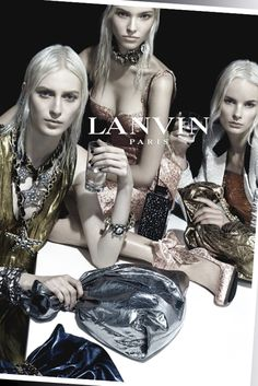 A spring Lanvin ad image. [Photo by Steven Meisel]