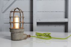 Industrial Lighting  Mid Century Cage Light by IndLights on Etsy, $175.00