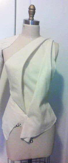 bias drape sample