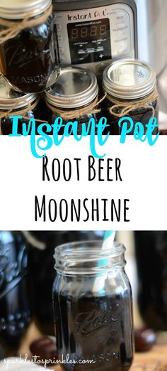 Instant Pot Root Beer Moonshine – Sparkles to Sprinkles Instant Pot Root Beer Moonshine is the tastiest moonshine go sip on this summer! Root beer moonshine will dress up any summer cookout or help you relax after a long day. Pin for Later! Root Beer Moonshine Recipe, Homemade Moonshine, Moonshine Alcohol, Moonshine Cocktails, Root Beer Extract, Everclear, Instant Pot Dinner Recipes, Alcohol Recipes, Drink Recipes