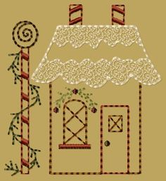 primitive embroidery designs | ... 5x7 - $8.00 : Primitive Keepers, Prim Machine Embroidery Designs
