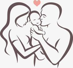 Mother Father And Baby Drawing Mom Dad Tattoos, Father Daughter Tattoos, Mother Tattoos, Baby Tattoos, Tattoos For Daughters, Mom Drawing, Family Drawing, Baby Drawing Easy, Family Sketch