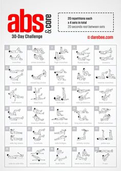 30-Day Abs & Core Challenge by DAREBEE