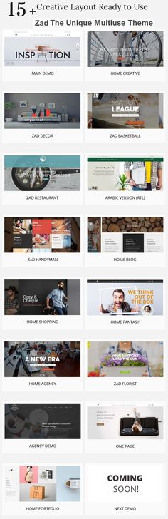 Zad is a creative, unique multiuse #WordPress #theme with 15 different Layouts that give you the power to create a stunning #website. Download Now!