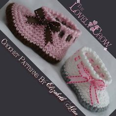 Baby Slippers Crochet Pattern for MY ANGEL BABY por TheLovelyCrow