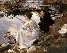 Two Girls Fishing, John Singer Sargent, 1912