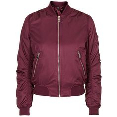 Topshop MA1 Bomber Jacket ($100) ❤ liked on Polyvore featuring outerwear, jackets, zip front jacket, long sleeve jacket, blouson jacket, bomber style jacket and bomber jacket