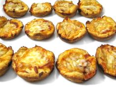 Skinny Pizza Bites. These NEW bite size pizzas are easy to make and so yummy!!! Each has just 80 calories, 3 grams of fat and 2 Weight Watchers Points Plus. Terrific to serve while watching football or other sports. I also like to serve them for dinner with a salad. http://www.skinnykitchen.com/recipes/skinny-pizza-bites/