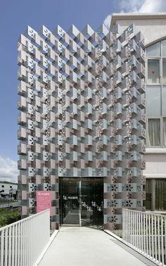 Nakatsuji clinic by yutaka kawahara design studio. Woven metal architecture