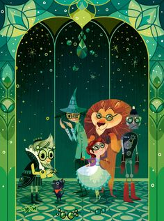 The Wonderful Wizard of Oz Illustration by Lorena Alvarez Gómez Art And Illustration, Illustration Mignonne, Over The Rainbow, Art Tumblr, Wizard Of Oz, Art Design, Graphic, Fairy Tales, Concept Art