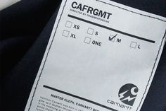 """Picture of fragment design & Carhartt WIP Tease Their 2014 Fall/Winter """"CAFRGMT"""" Collaboration"""