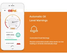 OilPal automatic oil level warnings - receive an automated email warning when oil or heating levels run low or dramatically drop