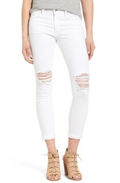 Loving these brilliantly-white distressed crop jeans from Joe's!